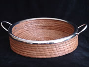 Nickel pine basket
